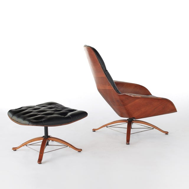 Plycraft Mid Century Modern George Mulhauser for Plycraft Early Mr Chair Lounge Chair & Ottoman For Sale - Image 4 of 11