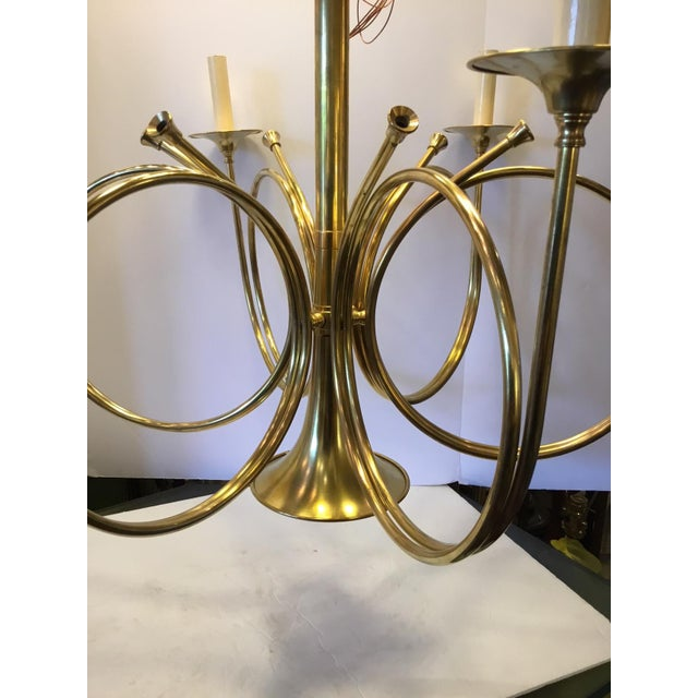 Vintage Frederick Cooper French Horn Chandelier For Sale In New York - Image 6 of 9