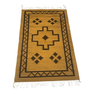Tribal Hand Woven Rug- 3′ × 5′ For Sale