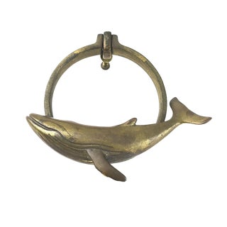 Brass Humpback Whale Door Knocker
