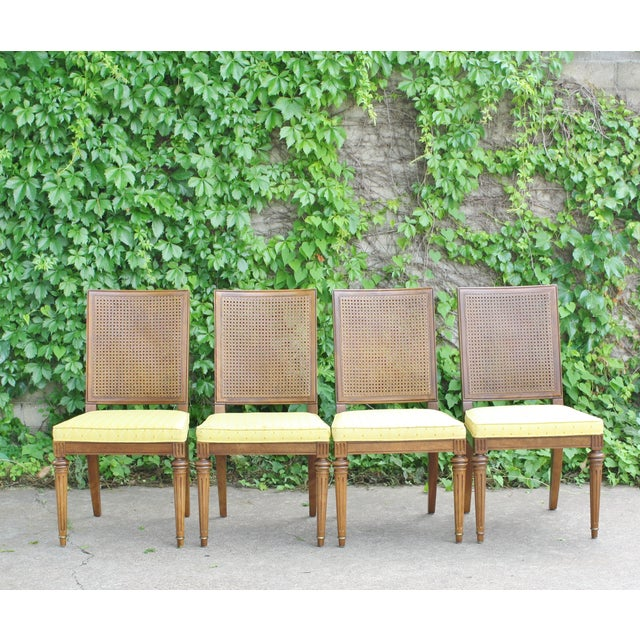 Hickory Directoire Style Dining Chairs - Set of 4 - Image 2 of 10