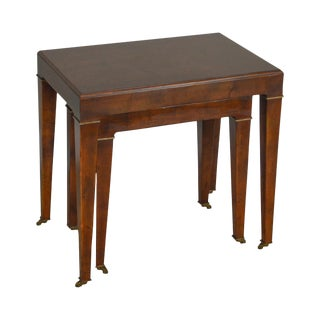 Baker Walnut Nest of 2 Tables For Sale