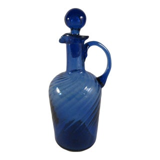 Depression Era Handblown Glass Cruet With Stopper