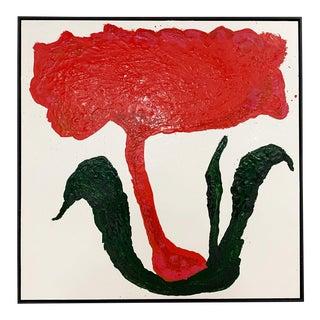 "John O'Hara. Botanical, 6. 37x37"" Encaustic Painting For Sale"