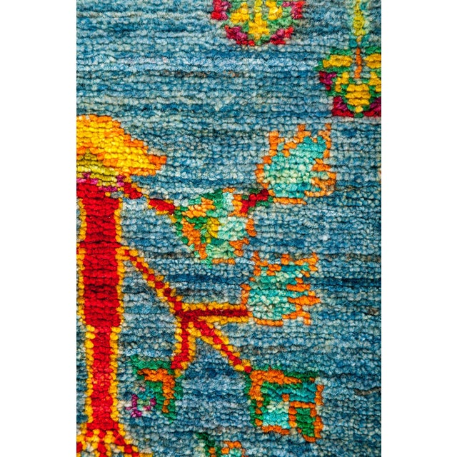 """New Blue Hand-Knotted Rug - 4'1"""" X 6'7"""" - Image 3 of 3"""