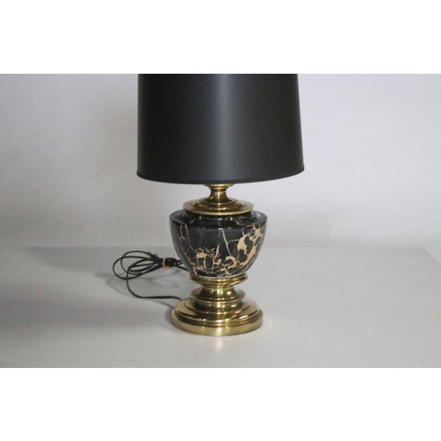 Brass Stiffel Marble and Brass Table Lamp For Sale - Image 7 of 8