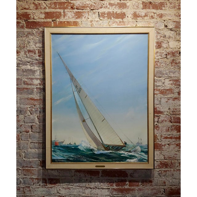 Kipp Soldwedel -Victory 1974 -Sailing Yacht - Original Oil Painting For Sale - Image 10 of 10