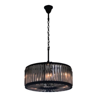 Restoration Hardware Welles Clear Crystal Round Chandelier For Sale
