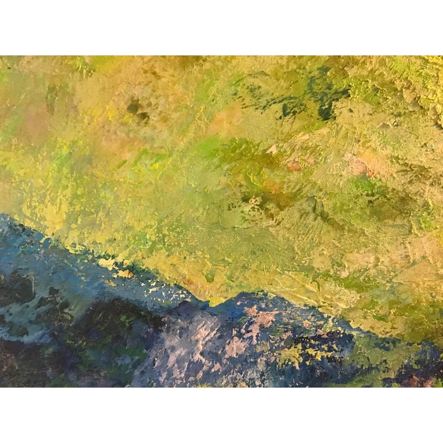 Mid-Century Purple Mountains Landscape Painting For Sale - Image 9 of 10