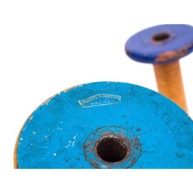 Primitive Antique Canadian Textile Spools, Set of 3 For Sale - Image 3 of 5