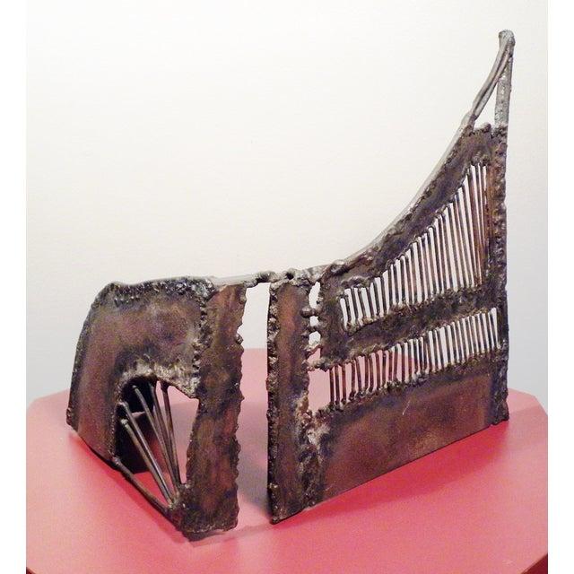 Mid-Century Modern Brutalist Metal Sculpture - Image 2 of 6