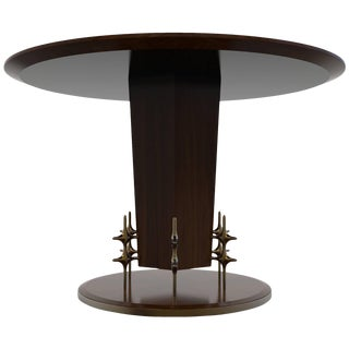 William Collins Collection Wood and Bronze Ico Centre or Dining Table For Sale