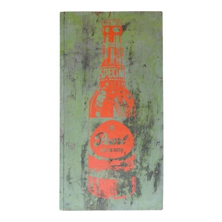 Pop Art Pearl Beer Sign on Wood For Sale