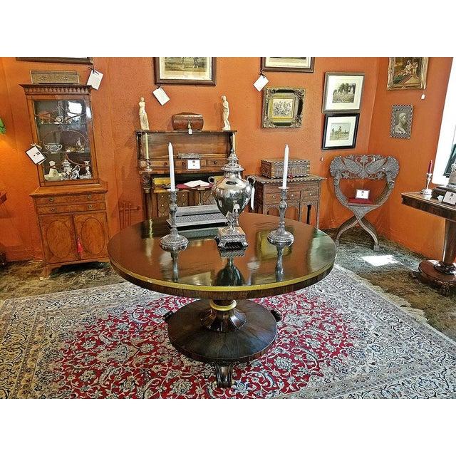 British Regency Tilt Top Center Table For Sale - Image 4 of 9