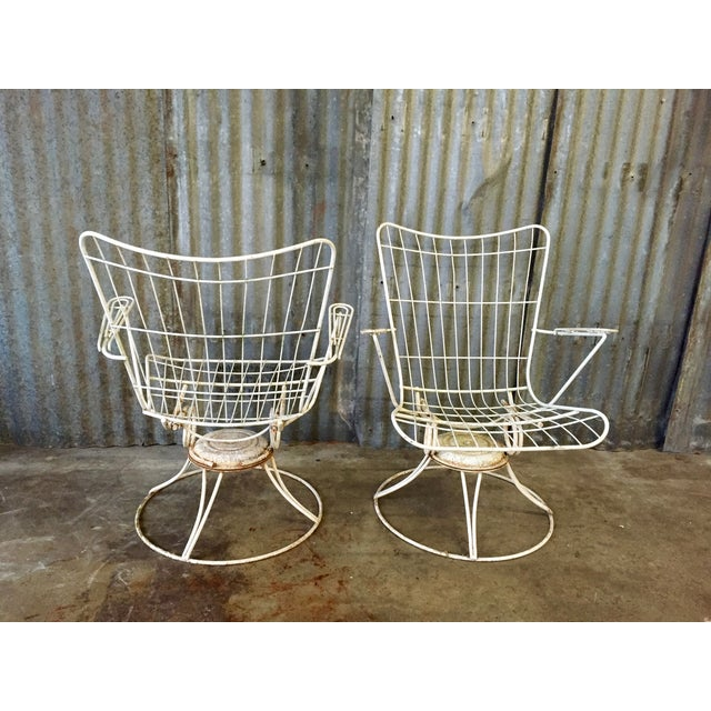 Vintage Homecrest Swivel Chairs - A Pair - Image 4 of 11