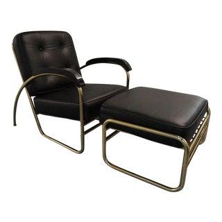 Black Empiric Chair & Ottoman