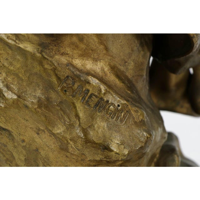 Paul Eugéne Mengin Bronze Sculpture - Image 8 of 10