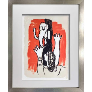 1950s Vintage Fernand Leger Original Framed Lithograph Print For Sale