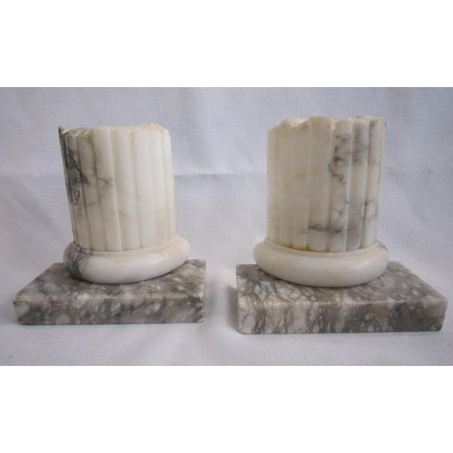 Neoclassical Marble Bookends - Pair - Image 2 of 5