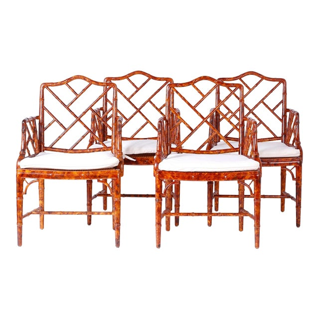 Chinese Chippendale Armchairs - Set of 4 For Sale