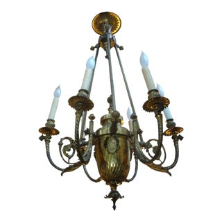 19th Century French Napoleon III Gilt Bronze Chandelier For Sale