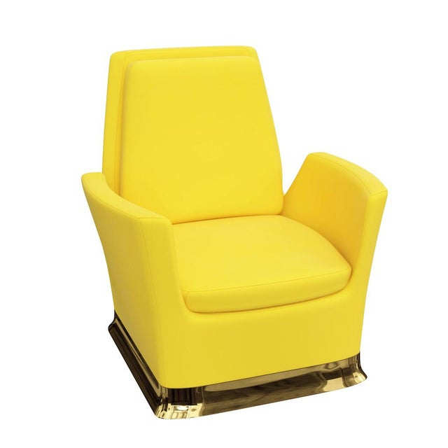Gold Future 1st Lounge Chair by Artist Troy Smith - Contemporary Design - Bespoke Furniture - Handmade For Sale - Image 8 of 8