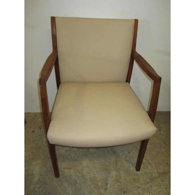 Jens Risom Mid Century Side Arm Chair Pair - Image 3 of 9