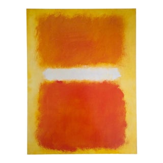 "Mark Rothko Vintage Lithograph Print Abstract Expressionist Poster "" Untitled ( Orange & Yellow ) "" 1968 For Sale"