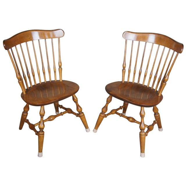 Nichols & Stone old pine side chairs. There is a makers stamp on the inside of the chair.