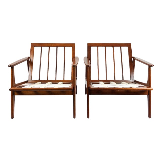 Armchairs in the Style of Clara Porset - a Pair For Sale