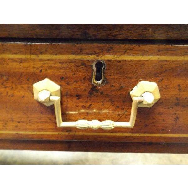 Rare Vintage Original Leather Top Partner / Writing Desk For Sale - Image 5 of 6