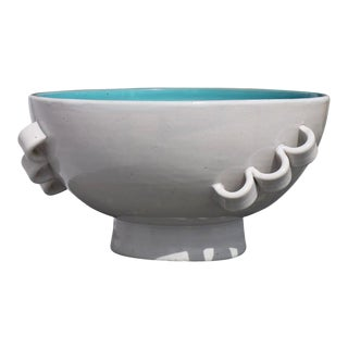 Sculptural Italian Three Handled Bowl For Sale