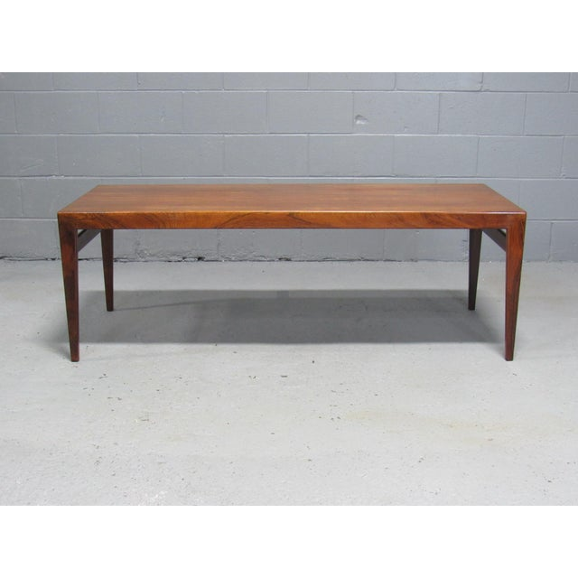 1960s Severin Hansen for Haslev Mid-Century Danish Rosewood Extending Coffee Table For Sale - Image 5 of 7