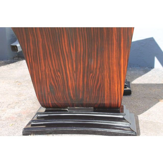 1930s C 1930's French Art Deco Exotic Macassar Ebony Dining Table For Sale - Image 5 of 12
