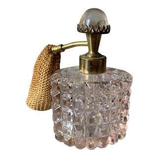 Art Deco Pink French Perfume Bottle For Sale