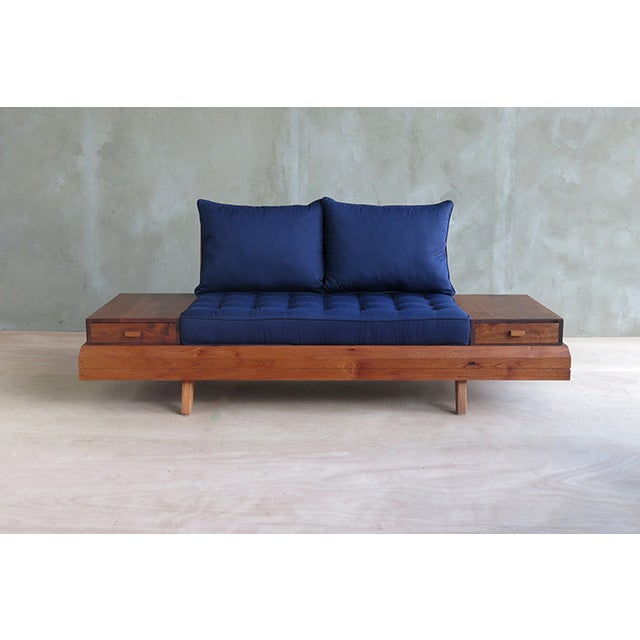 Floating Blue Loveseat by Masaya & Company - Image 7 of 8