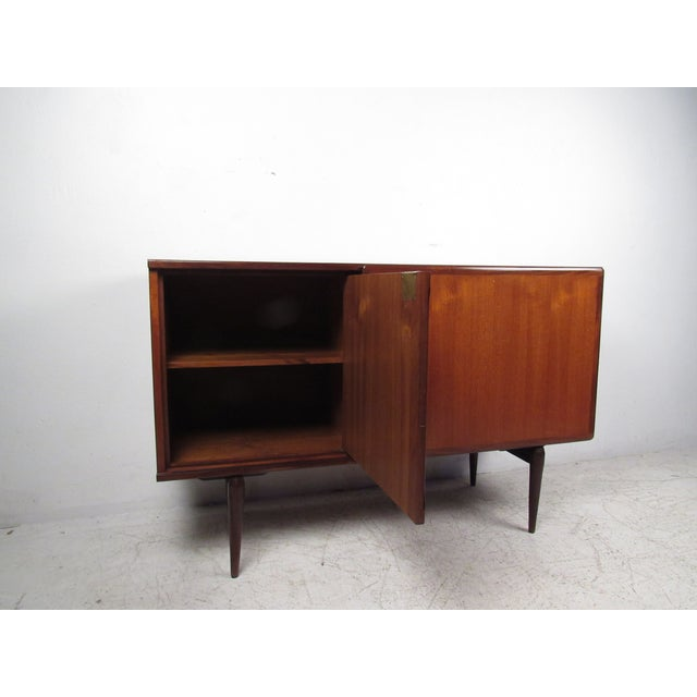Mid-Century Modern Compact Scandinavian Modern Teak Cabinet For Sale - Image 3 of 13