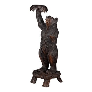 Black Forest Bear Plant Stand