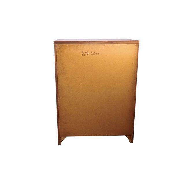 Mid Century Lane Furniture Five Drawer Tall Highboy Dresser For Sale - Image 10 of 11
