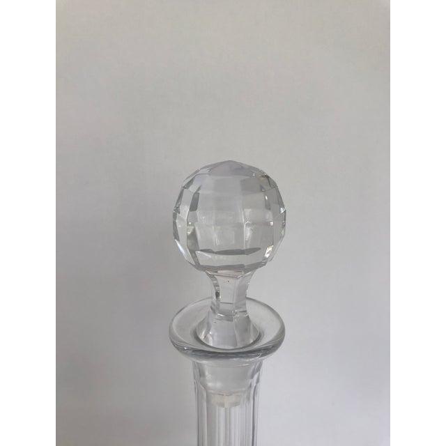 Glass Vintage Baccarat Nancy Crystal Decanter For Sale - Image 7 of 9