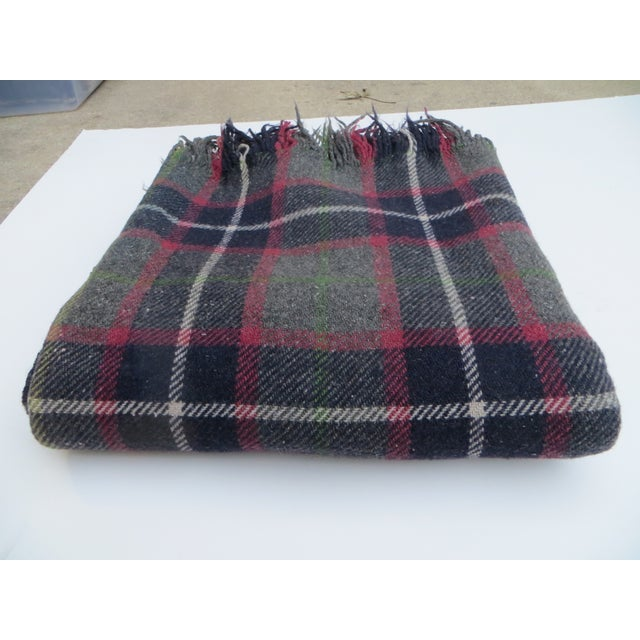 Gray Plaid Blanket - Image 2 of 3