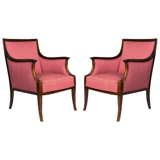 Pair of Frits Henningsen Lounge Chairs For Sale