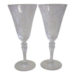 Cambridge Wine Goblets - A Pair For Sale