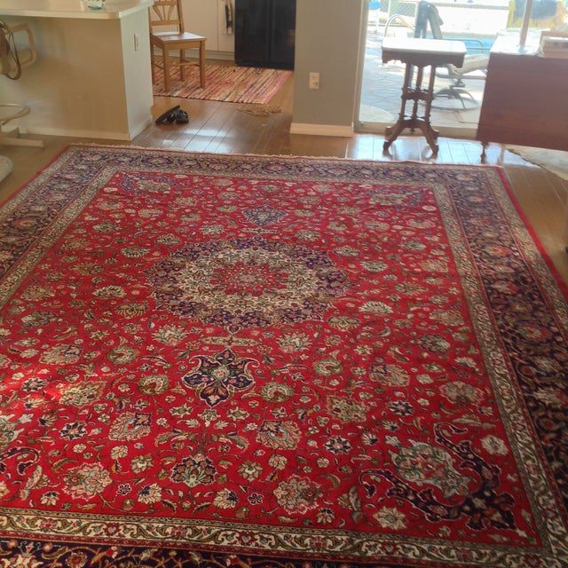 Colorful Kashan Hand-Tied Rug - 13' X 10' - Image 8 of 8