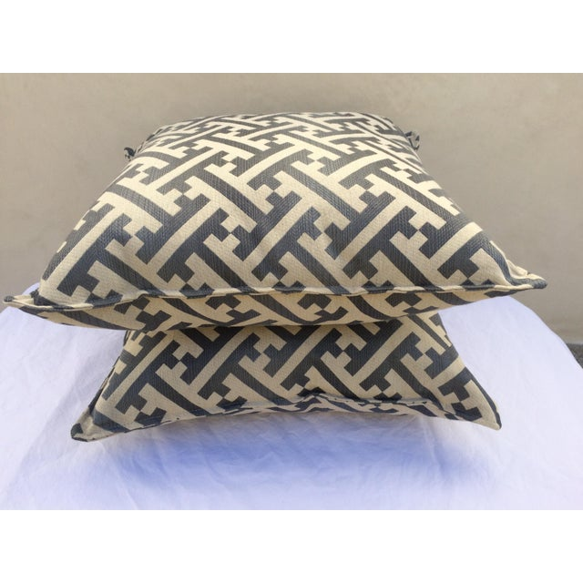 Modern Contemporary Graphic Pattern Pillows - a Pair - Image 6 of 7