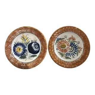 Henriot Quimper Decorative Plates - Set of 2 For Sale