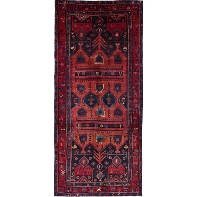 """Persian Zanjan Rug - 4'10"""" x 10'11"""" - Image 1 of 2"""