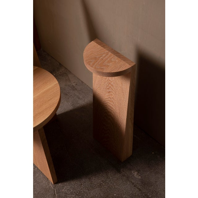 Contemporary Campagna |) Set Table in White Oak For Sale - Image 3 of 7