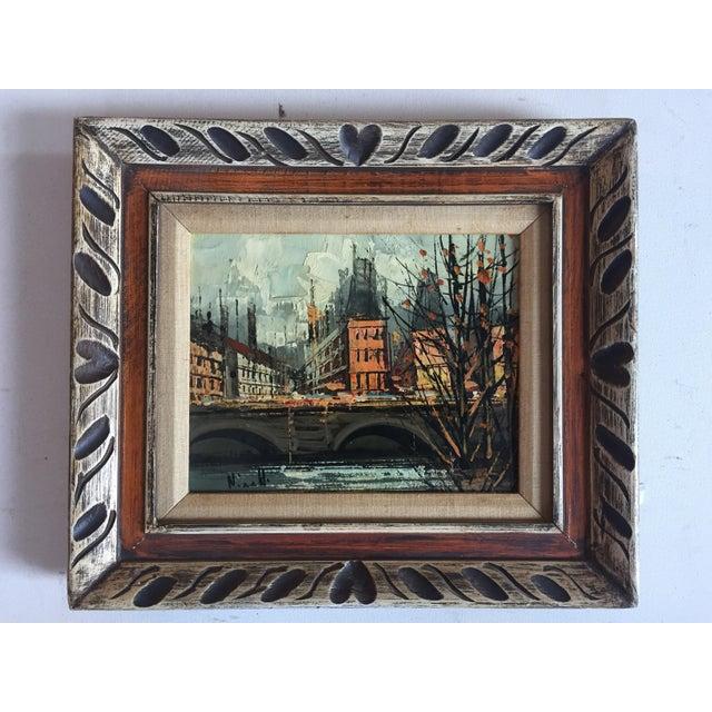 Vintage Mid Century Paris Street Scene Painting - Image 2 of 5