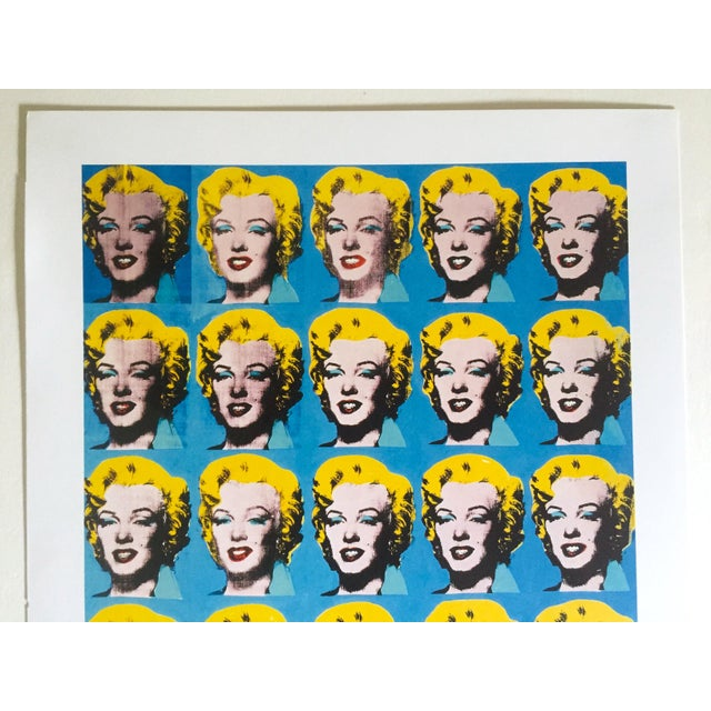 """American Andy Warhol Foundation Rare 1993 Lithograph Print """"Twenty Five Marilyns"""" 1962 For Sale - Image 3 of 10"""